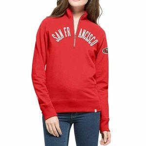San Francisco 49ers '47 Women 1/4 Zip Jacket, S